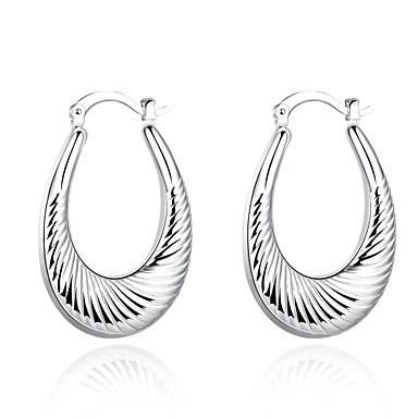 Dames Oorknopjes Clip oorbellen Koper Verzilverd Cirkelvorm Geometrische vorm Sieraden Bruiloft Feest Dagelijks Causaal