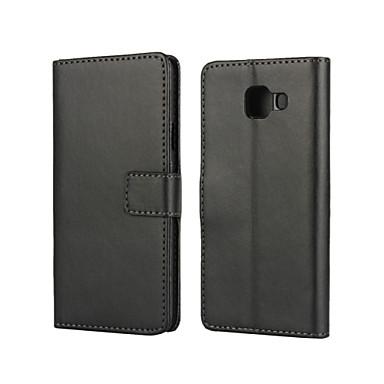 Mert Samsung Galaxy tok Kártyatartó / Állvánnyal / Flip / Mágneses Case Hátlap Case Egyszínű Műbőr Samsung A3(2016)