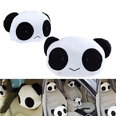 ziqiao 1 쌍의 귀여운 사랑스러운 팬더 패턴 카시트 목 / 머리 베개 부드러운 백 쿠션 머리 받침 목 베개
