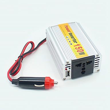 교류 220V에 ziqiao는 150w 휴대용 자동차 전원 인버터 adapater 충전기 컨버터 변압기 직류 12V