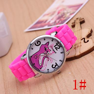 Dames Modieus horloge Kwarts Plastic Band Zwart Blauw Rood Roze roze Zwart Rood Blauw Roze # 1
