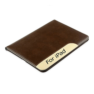 Case Kompatibilitás iPad 4/3/2 Állvánnyal Automatikus készenlét / ébresztés Héjtok Tömör szín Valódi bőr mert iPad 4/3/2