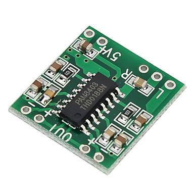 pam8403 super mini placa de amplificador digital de 2 * 3W classe d digital de 2.5V a 5V de alimentação da placa amplificador eficiente