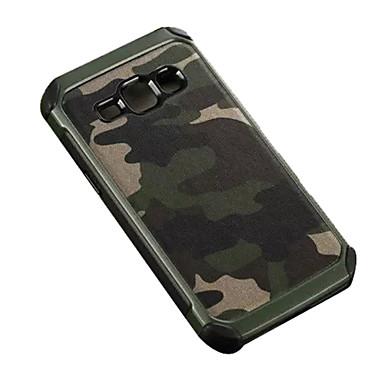 voordelige Galaxy J-serie hoesjes / covers-hoesje Voor Samsung Galaxy J7 / J5 / J2 Schokbestendig Achterkant Camouflage Kleur PC