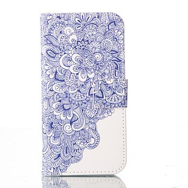Kompatibilitás iPhone 5 tok tokok Pénztárca Kártyatartó Állvánnyal Flip Minta Teljes védelem Case Mandala Kemény Műbőr Bőr mertiPhone