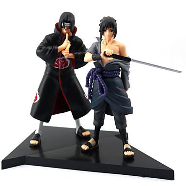 Figuras de Ação Anime Inspirado por Naruto Sasuke Uchiha PVC 16cm CM modelo Brinquedos Boneca de Brinquedo