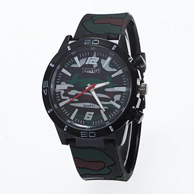 Homens Relógio Esportivo Quartzo Silicone Banda Branco Azul Vermelho Verde