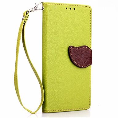 lichia deluxe deixa carteira de couro do caso da aleta TPU para Sony Xperia e4 carteira bolsa + cordão