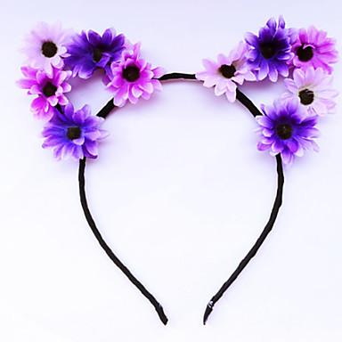 Anyag Ötvözet Virágos Vintage Virágok Hajpánt Szivárvány