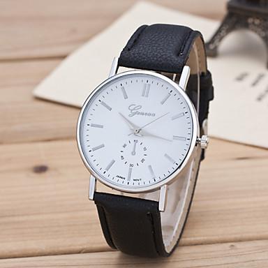 للرجال كوارتز ساعة المعصم ساعة فستان ساعة رياضية طرد كبير جلد طبيعي فرقة سحر موضة متعدد الألوان