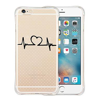 케이스 커버 용 iPhone 6 iPhone 6 Plus 뒷면 커버 투명 패턴 카툰 소프트 실리콘 iPhone 6s Plus iPhone 6 Plus iPhone 6s iPhone 6 용