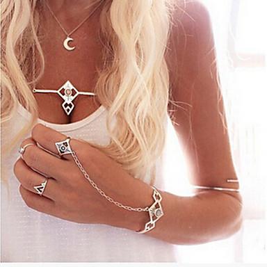 Dames Cuff armbanden Kristal Uniek ontwerp Folk Style Europees Modieus Acryl Legering Sieraden Zilver Sieraden VoorFeest Dagelijks