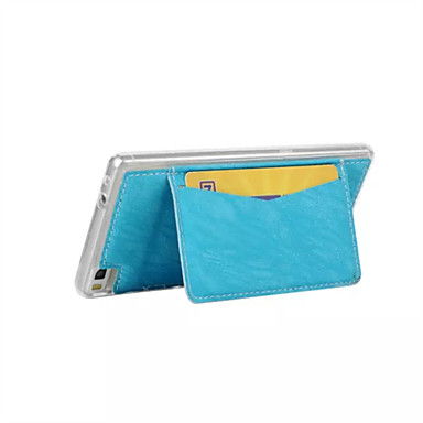 용 화웨이 케이스 / P8 카드 홀더 / 스탠드 케이스 뒷면 커버 케이스 단색 하드 인조 가죽 Huawei Huawei P8