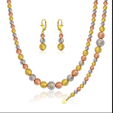 Női Ezüstözött / Arannyal bevont / Rózsa arany bevonattal Ékszer szett Naušnice / Nyakláncok / Karkötő - Arany Kompatibilitás Esküvő /