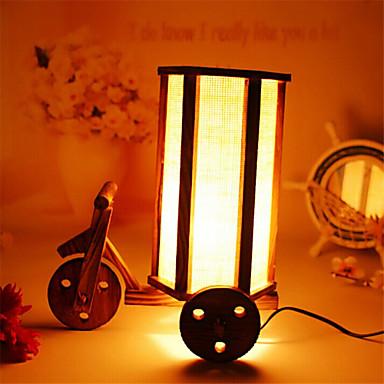창조적 인 나무 아이에 대한 고대의 방법으로 컨테이너 장식 책상 램프 침실 램프 선물을 복원 낭만적 인 세발 자전거