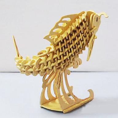3D퍼즐 직쏘 퍼즐 나무 퍼즐 물고기 용품 DIY 나무