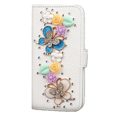 Case Kompatibilitás Samsung Galaxy Samsung Galaxy Note Kártyatartó Pénztárca Strassz Állvánnyal Flip Teljes védelem Csillogó Műbőr Bőr