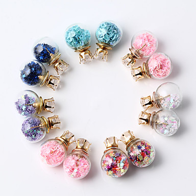 여성용 스터드 귀걸이 - 핑크 밝은 블루 다크 퍼플 무지개 워터멜론 핑크 귀걸이 제품 일상 캐쥬얼