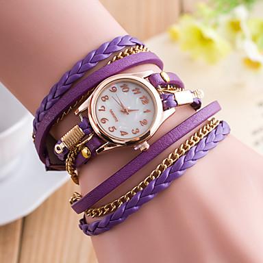 아가씨들 패션 시계 캐쥬얼 시계 석영 합금 밴드 블랙 화이트 브라운 핑크