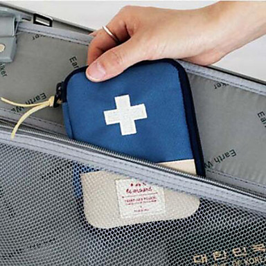 billige Førstehjælp på rejsen-Pilleboks/etui til rejsebrug Bærbar Opbevaring under rejser for Bærbar Opbevaring under rejser Rød Blå
