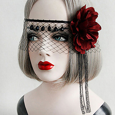 Lolita Accessoires Gothic Punk Hoofddeksels Masker Sexy Elegant Lolita-accessoires Vintage Voor