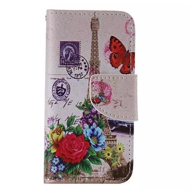 iphone 7 plus bloem toren geschilderd pu telefoon Case voor iPhone 6s 6 plus se 5s 5c 5 4s 4