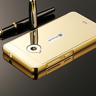 Case Kompatibilitás Nokia Nokia tok Galvanizálás Tükör Fekete tok Tömör szín Kemény Akril mert Nokia Lumia 535