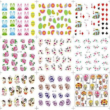 만화 / 꽃 / 러블리-핑거 / 발가락 / 이 외-3D 네일 스티커 / 1/2 네일팁 / 풀 네일팁 / 다른 데코레이션-이 외-8-9.8*6.2*0.02