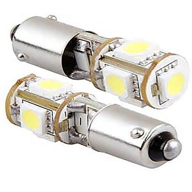 2db 12V 5W fehér színű led led oldalsó jelző fény, BA9S CAN-BUS LED olvasólámpa, rendszámtábla-világítás