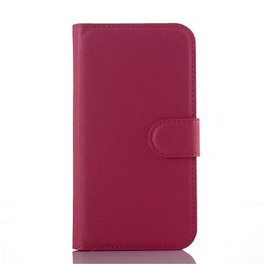 용 삼성 갤럭시 케이스 지갑 / 카드 홀더 / 스탠드 / 플립 케이스 풀 바디 케이스 단색 인조 가죽 Samsung J3 / J2