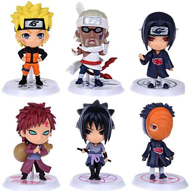 Figuras de Ação Anime Inspirado por Naruto Fantasias PVC 6 CM modelo Brinquedos Boneca de Brinquedo