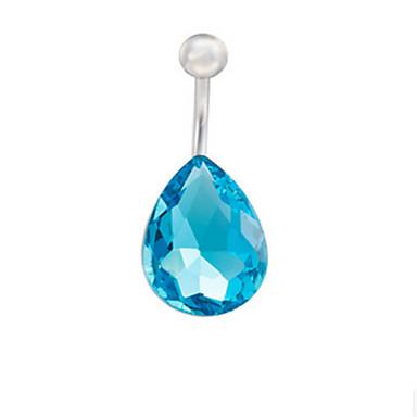 رخيصةأون مجوهرات الجسم-نسائي مجوهرات الجسم خاتم السرة / ثقب البطن أزرق فاتح سيدات / تصميم فريد / حفلة الفولاذ المقاوم للصدأ / سبيكة مجوهرات من أجل فضفاض الصيف