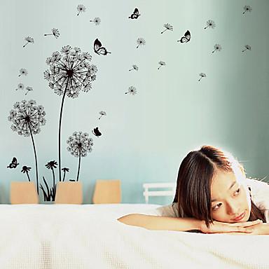 로맨스 패션 플로럴 풍경 벽 스티커 플레인 월스티커 데코레이티브 월 스티커 자료 이동가능 재부착가능 홈 장식 벽 데칼