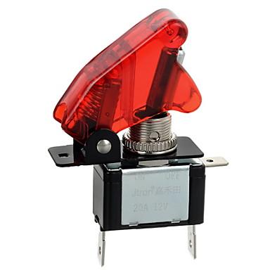 ieftine Părți Auto-jtron roșu / albastru LED iluminat auto de comutare de pornire / oprire (12v / 20a) pe
