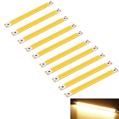 youoklight® 10PCS 10w 950lm 속 1 주도 따뜻한 화이트 3000K 사각형 스트립 (DC 12 ~ 14V)