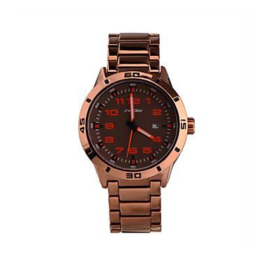 SINOBI Masculino Relógio de Pulso Quartzo Calendário Impermeável Relógio Esportivo Lega Banda Ouro Rose Rosa