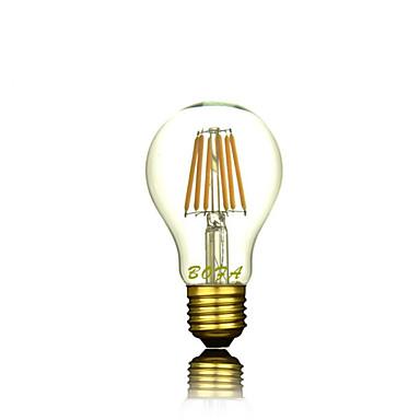 1pc 4 W 2300 lm E26 / E27 LED-gloeilampen A60 (A19) 4 LED-kralen COB Decoratief Warm wit 220-240 V / 1 stuks / RoHs