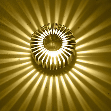 Duvar ışığı Ortam Işığı 3 Birleştirilmiş LED Modern/Çağdaş Eloktrize Kaplama