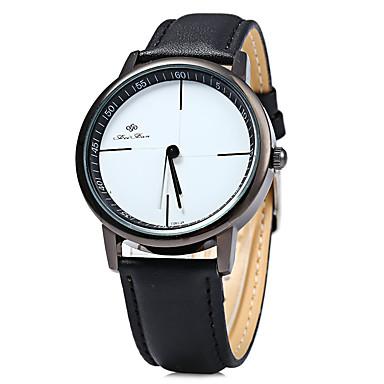 아가씨들 패션 시계 캐쥬얼 시계 캐쥬얼 시계 석영 가죽 밴드 블랙 화이트