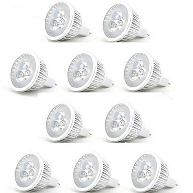 HRY 3 W LED สปอตไลท์ 250 lm MR16 3 ลูกปัด LED LED กำลังสูง ตกแต่ง ขาวนวล ขาวเย็น 12 V, 10pcs / RoHs