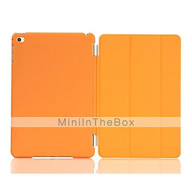 Case Kompatibilitás Apple Állvánnyal / Automatikus készenlét / ébresztés / Origami Héjtok Egyszínű PU bőr mert iPad Mini 4