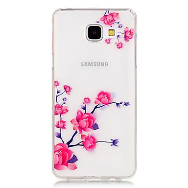 제품 삼성 갤럭시 케이스 케이스 커버 투명 패턴 뒷면 커버 케이스 꽃장식 TPU 용 Samsung Galaxy A5(2016) A3(2016)