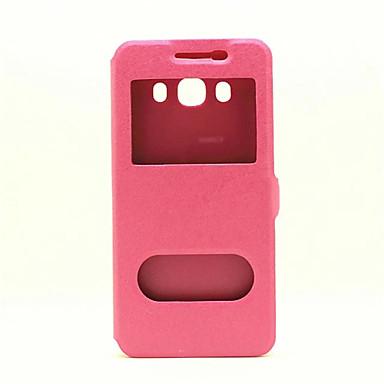 Mert Huawei tok / P9 / P9 Lite / P8 / P8 Lite Betekintő ablakkal / Flip Case Teljes védelem Case Egyszínű Kemény Műbőr HuaweiHuawei P9 /