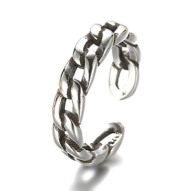 Ezüst Band Ring - Vintage Ezüst Gyűrű Kompatibilitás Napi Hétköznapi