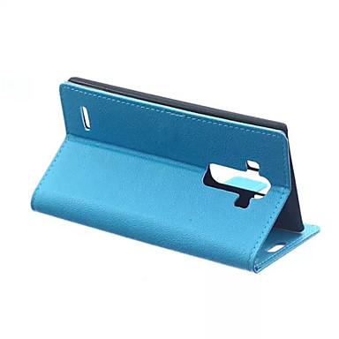 용 LG케이스 지갑 / 카드 홀더 / 스탠드 / 플립 케이스 풀 바디 케이스 단색 하드 인조 가죽 LG