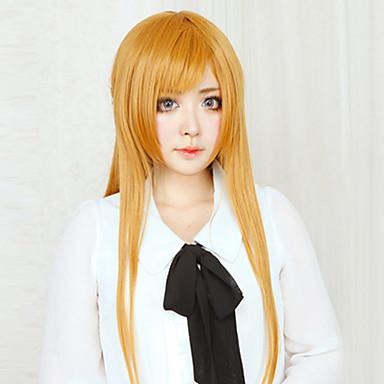 Cosplay Perukları Sword Art Online Asuna Yuuki Anime Cosplay Perukları 80 CM Isı Dirençli Fiber Kadın's