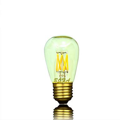 1개 NO E26 / E26/E27 3W 6 COB 200-400 lm 따뜻한 화이트 튜브 밝기 조절 / 장식 LED 글로브 전구 AC 220-240 / AC 110-130 V