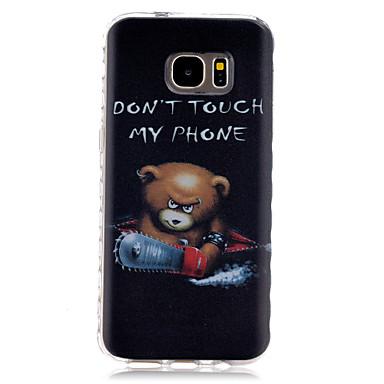 케이스 제품 Samsung Galaxy Samsung Galaxy S7 Edge 패턴 뒷면 커버 단어 / 문구 TPU 용 S7 edge S7
