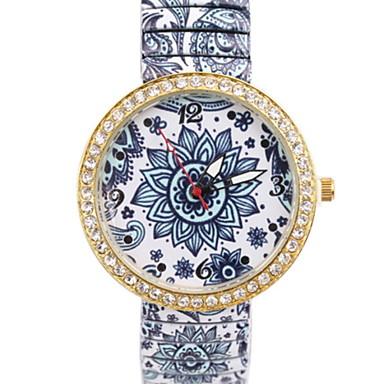 Női Divatos óra Szimulált Gyémánt Karóra Kvarc utánzat Diamond ötvözet Zenekar Virág Színes