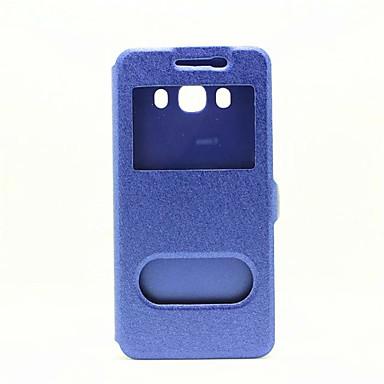 Mert Samsung Galaxy S7 Edge Állvánnyal / Betekintő ablakkal / Flip Case Teljes védelem Case Egyszínű Műbőr SamsungS7 edge / S7 / S6 edge